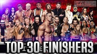 WWE TOP 30 Finishers of Superstars in all time !