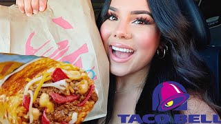 TACO BELL MUKBANG! NEW GRILLED CHEESE BURRITO!