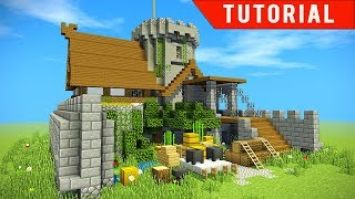 Minecraft: How to make a CASTLE / SURVIVAL BASE for friends! EASY
