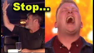 "Simon HALTS Nervous Singer but then GOLDEN BUZZER ""Happens""? ... Britain's Got Talent 2018"
