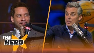 Colin Cowherd and Chris Broussard discuss their top NBA players of all-time | THE HERD