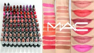 Mac Lipstick Collection 2019 + Lip Swatches || Beauty with Emily Fox