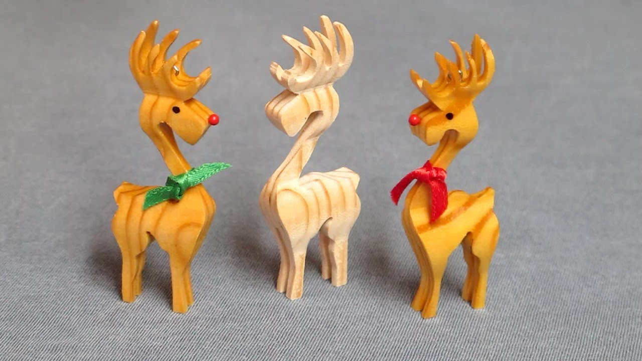 Christmas 3D Reindeer Ornament - Compound Cuts on the ...