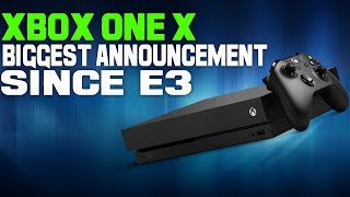 WOW!! Xbox One X Gets It's Biggest Announcement Since E3! This Is MASSIVE!!