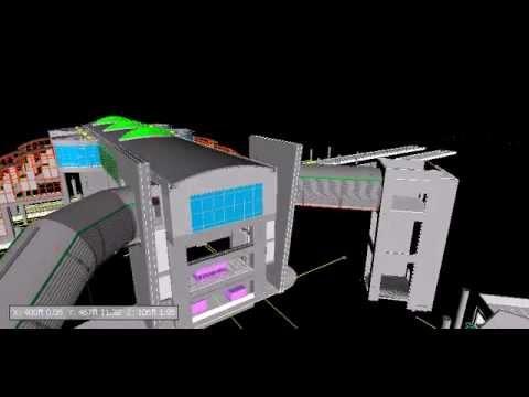 Fire Sprinkler 3D BIM NAVIS Fly Through - 2014 Video #1
