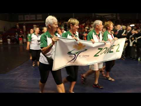 55+ BC Games Athletes of Zone 2 – Vancouver Island North, at Opening Ceremonies, North Vancouver
