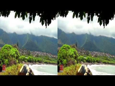 3D Video extreme!!! (evo 3D Works) 3D Mountain View Hawaii Nature Scene 3D Video