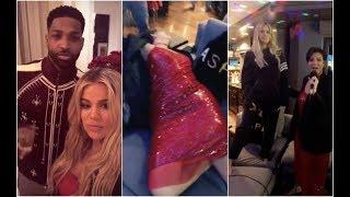 Tristan Thompson has crazy Karaoke party with Khloe Kardashian & her mother