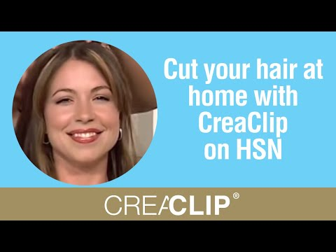 Cut Your Hair At Home With Creaclip On Hsn Angled Bob