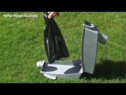 Vacuum Pooper Scooper - Removing Waste Bag