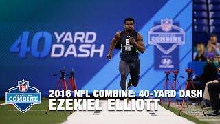 Ezekiel Elliott (Ohio State, RB) 40-Yard Dash | 2016 NFL Combine