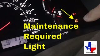 How To RESET the MAINTENANCE REQUIRED Light ~ 2006 Toyota Corolla