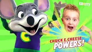 Chuck E Cheese Gave Us POWERS! (Family Ticket Battle 2) KIDCITY