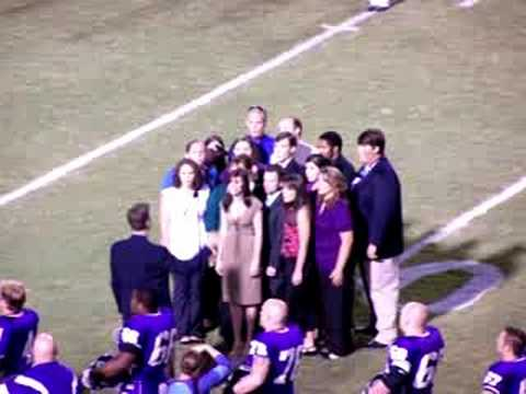 UNA's Vocal Jazz Ensemble performs The Star Spangled Banner