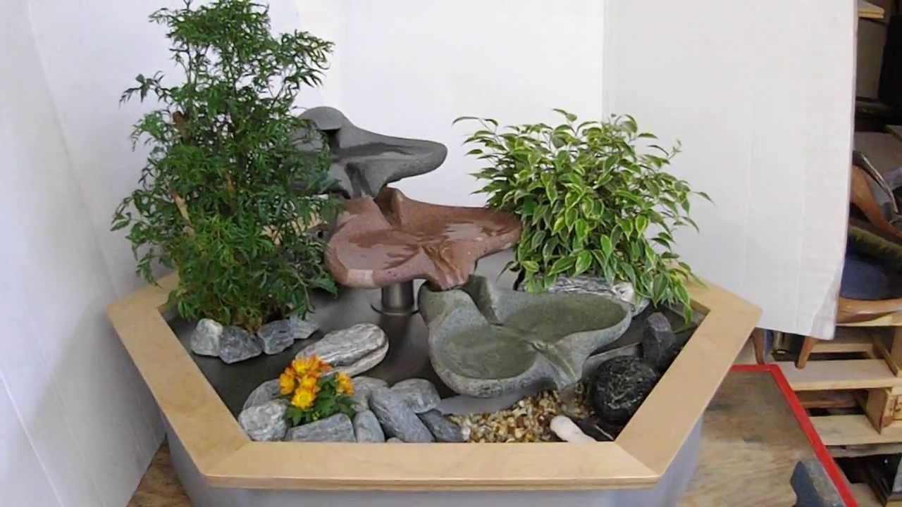 flowform amanda zimmerbrunnen kaskade kleiner bachlauf youtube. Black Bedroom Furniture Sets. Home Design Ideas