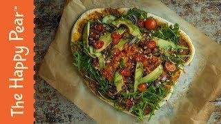 VEGAN SALAD PIZZA | THE HAPPY PEAR