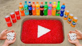 YouTube Logo in the Hole with Orbeez, Coca Cola, Mentos & Popular Sodas