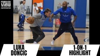 Luka Doncic INTENSE 1-ON-1 PRACTICE MATCHUP with Dallas Mavs Coach!