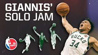 Why Giannis Antetokounmpo's unassisted dunks make him a new-age Shaq   Signature Shots