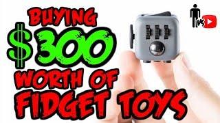 Buying $300 Worth of Fidget Toys - Man Vs Youtube
