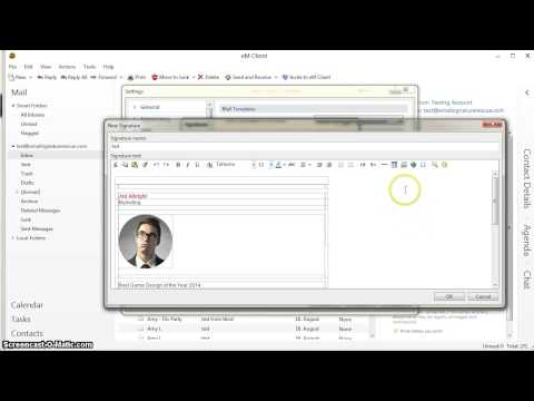 How to setup a HTML signature in eM Client software