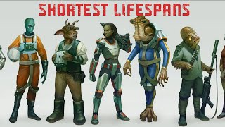 Which Species has the Shortest Lifespan in Star Wars?