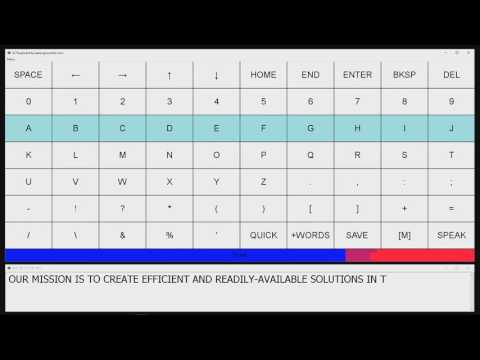 Assistive Communication with ECTkeyboard