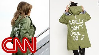 Melania Trump dons jacket saying 'I really don't care. Do U?'