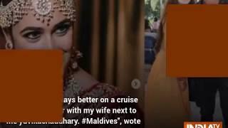 Prince Narula, Yuvika Chaudary Maldives honeymoon pics go ..