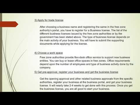 Starting a Business in Dubai free zone