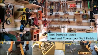 Garage Storage Ideas - Tool Storage Ideas For Tool Organization - Hand and Power tool Holder Wall
