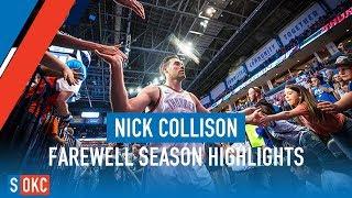 Nick Collison's Final Season Highlights with the Oklahoma City Thunder   2017-18 Season