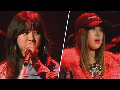 [풀버전] 앤씨아 vs 이영유, 센 언니들의 랩 배틀 'Black List'♪  힙합의 민족2 6회