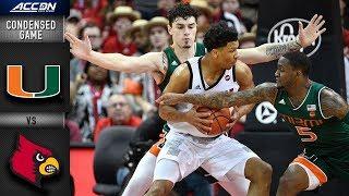 Miami vs. Louisville Condensed Game | 2018-19 ACC Basketball