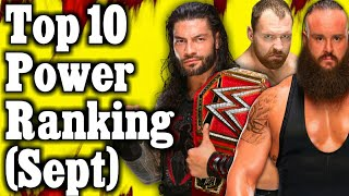 WWE Top 10 Power Ranking September 2018