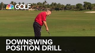 Downswing Position Drill - SwingFix | Golf Channel