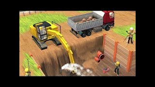 Little builders app and game trucks diggers cranes best game for kids