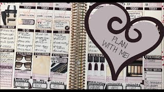 WEEKLY PLAN WITH ME! Erin Condren Classical Beauty Kit (PlannedandPrettyCo.)