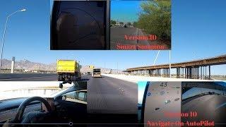 Tesla V10 New Update | Model 3 Navigate On Autopilot. Smart Summon