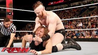 Dean Ambrose vs. Sheamus: Raw, January 11, 2016
