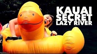 A DAY ON KAUAI | SECRET NATURAL LAZY RIVER