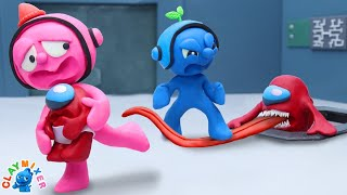 Protect the Mini Crewmate - Clay Mixer Stop Motion Animation