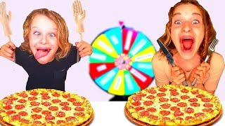 4 KIDS Mystery Wheel of PIZZA Challenge with TINY HANDS with The Norris Nuts