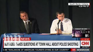 Buttigieg confronted at town hall over fatal police shooting of a black man