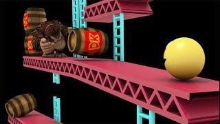 Pacman vs Donkey crazy battle