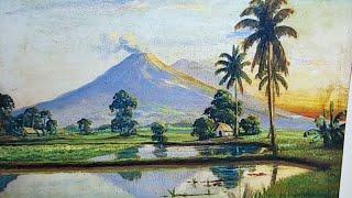 Dạy Vẽ Tranh Phong Cảnh Đồng Quê Bài 6, p2. ( Học vẽ miễn phí). Painting teaching for free