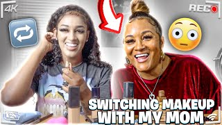 SWITCHING MAKEUP WITH MY MOM!!😳😳