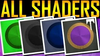 Destiny - HOW TO GET ALL FESTIVAL SHADERS!