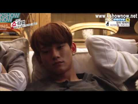 EXO Showtime ep 4 Lay and Chen sleeping cut