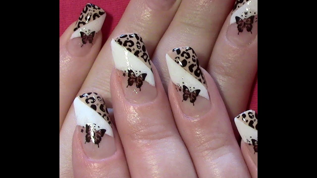 leo schmetterling nageldesign selber machen nail art design tutorial stamping nail sticker. Black Bedroom Furniture Sets. Home Design Ideas